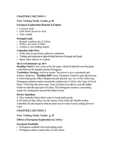 CHAPTER 2 SECTION 3 Note Taking Study Guide, p. 49 European
