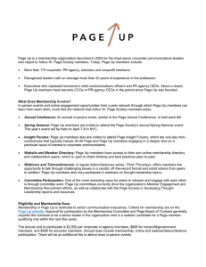 Page Up is a membership organization launched in 2003 for the