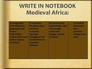 Medieval Africa - Waukee Community School District Blogs