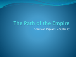 The Path of the Empire