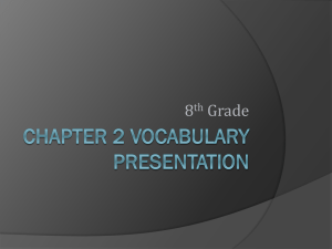 chapter 2 vocabulary presentation