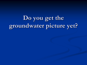 Do You Get the Ground Water Picture?