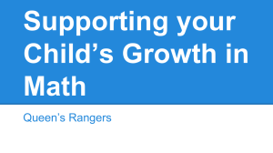 Supporting Your Child's Growth in Math