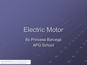 Electric Motor - World of Teaching