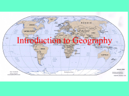 an introduction to the analysis of the geography of earth