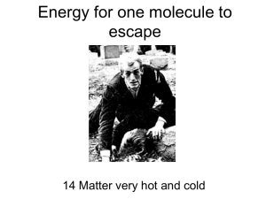 Energy for one molecule to escape