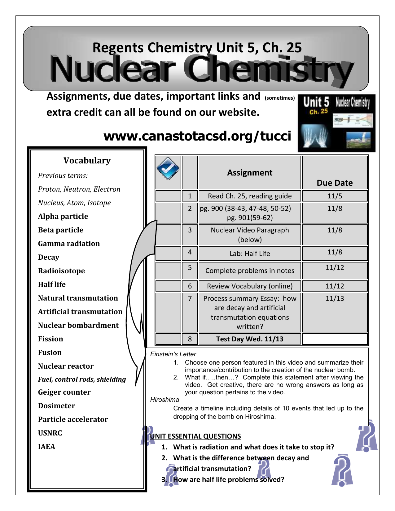 moreover  furthermore Chapter 25 Nuclear Chemistry Text Problems   Aubrey Stewart's together with CHAPTER 25 Nuclear Chemistry  Key Terms Radioactivity  the process together with Chapter 25  Nuclear Chemistry in addition  besides Notes  Ch 25 also Ch  25   Nuclear Chemistry besides Nuclear Chemistry Worksheet   Oaklandeffect as well  additionally Nuclear Chemistry Chapter ppt download together with Best 25 Periodic Table Ideas On Pinterest Periodic   Wiring Design also Regents Chemistry Unit 5  Ch  25 ignments  due dates  important likewise Nuclear chemistry notes packet further Balancing Nuclear Equations Worksheet Answers   Briefencounters besides Chapter 4 atomic Structure Practice Problems Wonderfully Chapter 25. on nuclear chemistry worksheet chapter 25