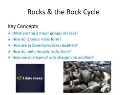Rocks & the Rock Cycle