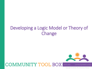 Logic models… - The University of Kansas