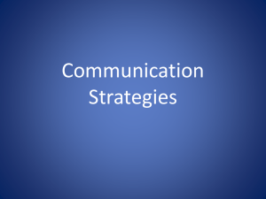 2 Communication Strategies
