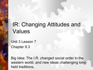 IR: Changing Attitudes and Values