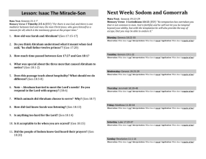 Lesson 6 Isaac Miracle Son