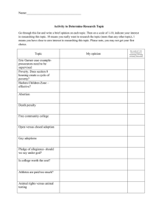 Name: Activity to Determine Research Topic Go through this list and