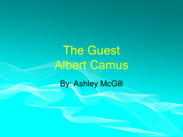 The Guest Albert Camus
