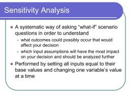 Data Tables and Sensitivity Analysis