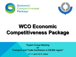 WCO Economic Competitiveness Package