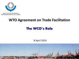 WTO Agreement on Trade Facilitation