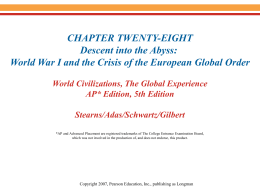 Chapter 28-World War I and Global Effects