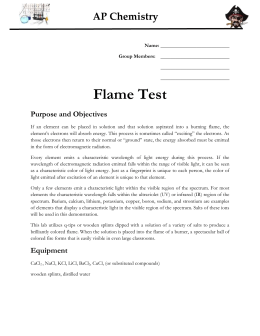 what is the purpose of the flame test lab