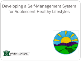 5-2-1-0 Developing Adolescent Healthy Lifestyles