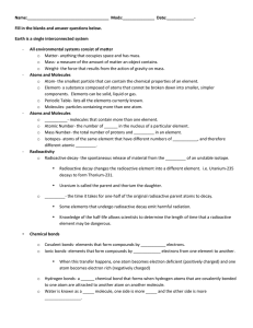 Ch 2 Student Notes/Questions Worksheet