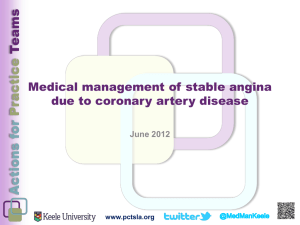 Medical management of stable angina