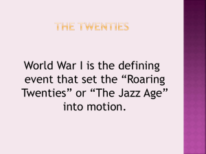 The roaring twenties - Immaculateheartacademy.org