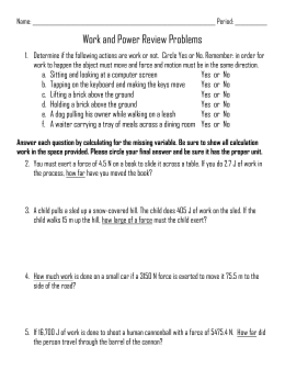 Printables Adding Vectors Worksheet vectors worksheet work and power review problems