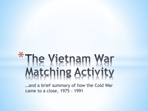 The Vietnam War Matching Activity
