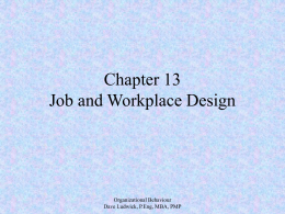 Organizational Behaviour Chapter 13