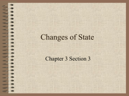Changes of State - Red Hook Central School District