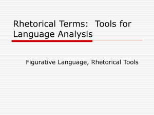 Rhetorical Terms: Tools for Language Analysis