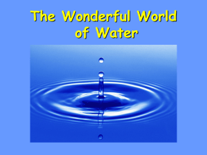 The Extraordinary Properties of Water