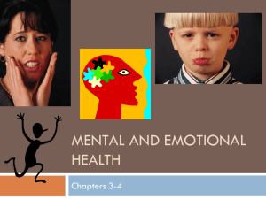 Mental and Emotional Health slide show