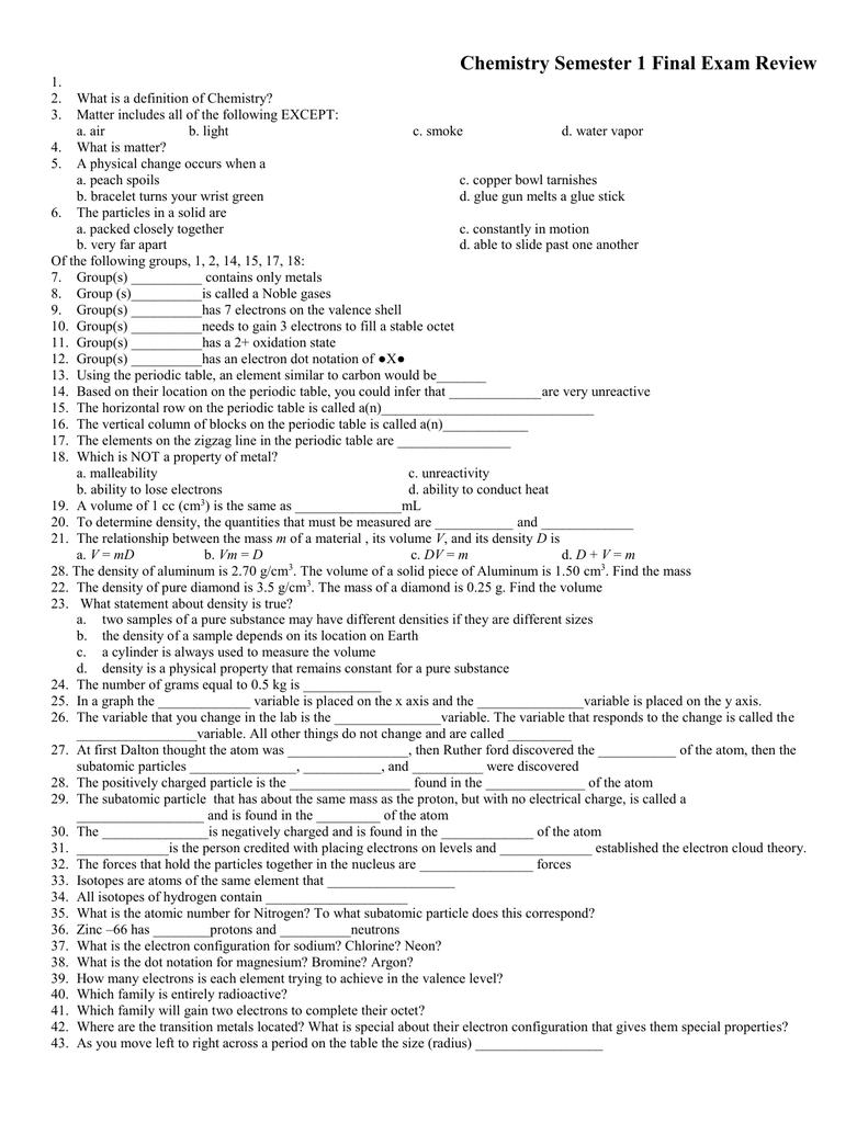 worksheet Chemistry Final Exam Review Worksheet 010190702 1 598789f633b9e3d9c98e9d162316b998 png