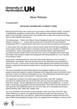 the press release - Food Research Collaboration