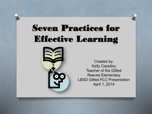 Seven Practices for Effective Learning