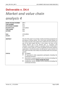 D4.4 Market and Value Chain Analysis 4