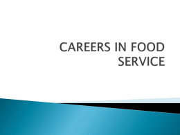 careers in food service - Fort Thomas Independent Schools