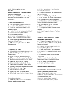 Art 4 midterm study guide Fall 15-Part One