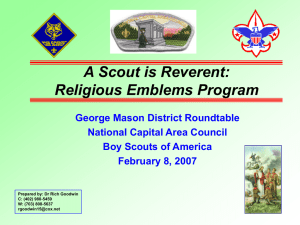 Religious Emblems Program - US Scouting Service Project