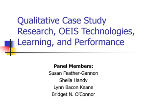 Qualitative Case Study Research, OEIS Technologies, Learning
