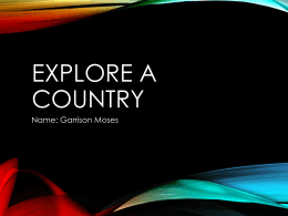 Explore a Country