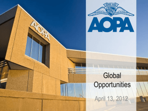 Global Opportunities, Michelle Peterson, Vice President, AOPA-USA