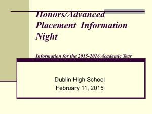 Honors / AP Night Powerpoint Presentation