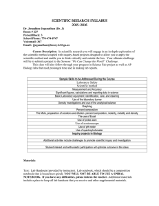 AP BIOLOGY SYLLABUS - Henry County Schools