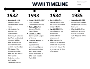 WWII Finished Timeline Page 1 Language Arts 8th