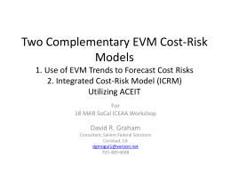 wo Complementary EVM Cost-Risk Tools