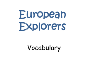 European Explorers Vocabulary
