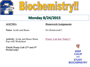 Week 6 Biochemistry (pH, atoms and molecules)